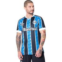 Camisa Masculina Umbro Grêmio Oficial 1 2020 S/N Azul/Preto - M