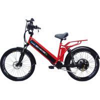 Bicicleta Elétrica Machine Motors New Premium 800W 48V Vermelha