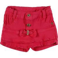Short Sarja Infantil Para Menina - Rosa Pink
