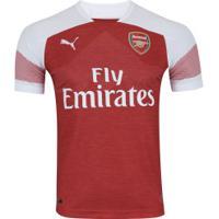 Camisa Arsenal I 18/19 Puma - Masculina - Vermelho/Branco