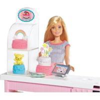 Boneca Barbie Chef De Bolinhos Com Acessórios - Feminino-Rosa+Azul