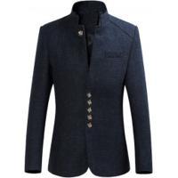 Blazer Masculino Style Gola Alta Slim - Azul Escuro