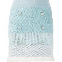 Pinko Saia Degradê Com Textura - Azul