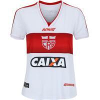 Camisa Do Crb I 2017 Nº 10 Rinat - Feminina - Branco/Vermelho