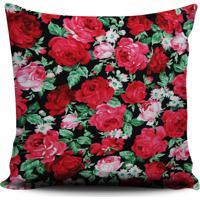 Almofada Stompy Floral Rosas Vermelho