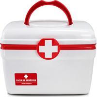 Caixa Para Remédios- Branca & Vermelha- 18X21,5X15,8Jacki Design