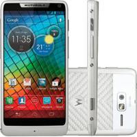 "Smartphone Motorola Razr I Xt890 Branco - 3G - Wi-Fi - 8Gb - Tela De 4.3""- 8Mp - Android 4.0 - Intel Atom"