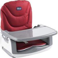Cadeira De Alimentação Booster Chicco Up To 5 - Unissex-Cinza+Vermelho