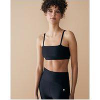 Amaro Feminino Top Fitness Pilates, Preto