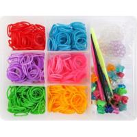 Caixa Organizadora Com 600 Elásticos Ezbandz Colorido - Tricae