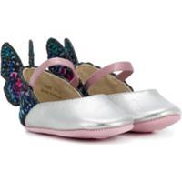 Sophia Webster Mini Sapato 'Evangeline Baby' De Couro - Metálico