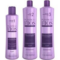 Kit Cadiveu Plástica Dos Fios Shampoo 300Ml + Ativo Antifrizz 1L + Máscara 1L - Unissex-Incolor
