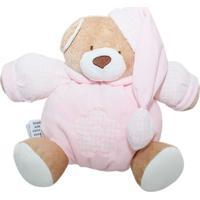 Urso Zip Nino Rosa Bebê