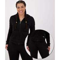 Agasalho Puma Clean Sweat Suit Cl Feminino Preto