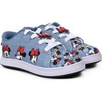 Tênis Infantil Disney Minnie Fashion Jeans Feminino - Feminino-Jeans