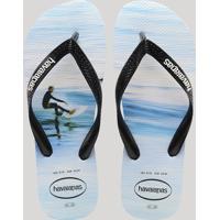 7ac9519632b4 CEA  Chinelo Masculino Havaianas Estampado Surf Branco