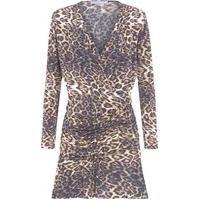 Vestido Drapeado Onça - Animal Print