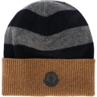Moncler Gorro Color Block Com Listras - Marrom