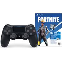 Controle Dualshock 4 Preto Para Playstation 4 E Voucher Fortnite