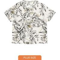 Blusa Feminina Plus Size Khyara Bege
