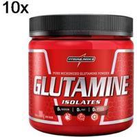 Kit 10X Glutamine Isolates Integralmédica - 150G - Masculino