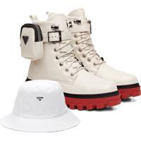 Kit Coturno Vicerinne Colors Off White+ Bucket Branco