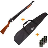 Kit Carabina De Pressão 25 Pump Gun 4.5 Daisy + Capa + 3 Chumbinho - Unissex