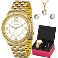 Kit Relógio Lince Feminino Colar E Brincos Lrg4340Lkt04B2Kx