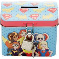 Cofre Super Heróis- Azul Claro & Vermelho- 7,6X9X5,7Urban