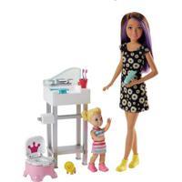 Boneca Barbie - Skipper Babysister - Banheiro E Bebê - Mattel