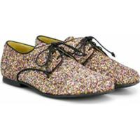 Prosperine Kids Sapato Com Cadarço E Glitter - Metálico
