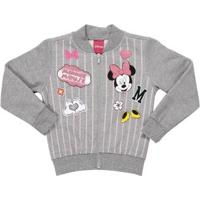 Jaqueta Disney Infantil Para Menina - Cinza