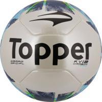 Bola De Futebol De Campo Topper Kv Carbon League Ii - Branco Verde c61c0ab2437d1