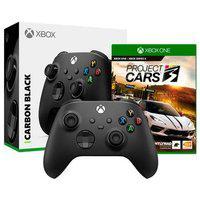 Controle Microsoft Xbox, Sem Fio, Preto - Qat-00007 + Game Project Cars 3