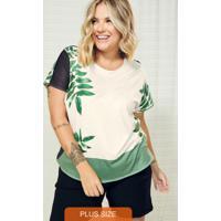 Blusa Feminina Plus Size Poly Bege