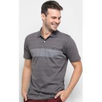 Camisa Polo Hd Trinity Masculina - Masculino-Cinza