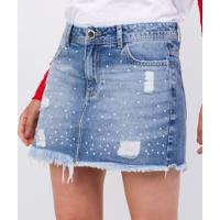 Saia Jeans Com Hotfix
