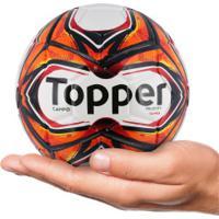 Minibola De Futebol De Campo Topper Samba Velocity 2018 - Branco Vermelho 79ca9d116c8ed