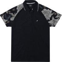 Camisa Masculina Enfim Polo Detalhe Floral
