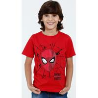 Camiseta Infantil Homem Aranha Marvel