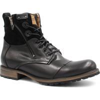 Bota Coturno Zariff Shoes Rock Preto