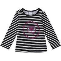 Blusa Infantil Listrada Com Glitter Malwee Kids Feminina - Feminino-Preto
