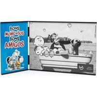 Porta Retrato Ludi Snoopy Bons Amigos Azul
