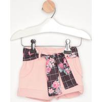 Short Em Moletinho Com Bolsos- Rosa Claro- Primeiroscostão Fashion