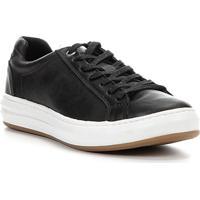 Sapatênis Couro Shoestock Sides Masculino - Masculino-Preto