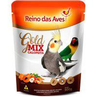Ração Para Pássaro Reino Das Aves Calopsita Gold Mix 500G