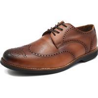 Sapato Social Oxford Shoes Grand Smooth Caramelo