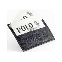 Carteira Masculina Porta Cartões E Cnh Preta Slim De Couro Legítimo Polo Clássica Original
