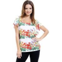 Blusa 101 Resort Wear Tunica Careca Estampada Floral