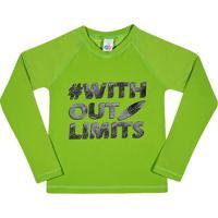 Camiseta ''Without Limits''- Verde & Pretatip Top